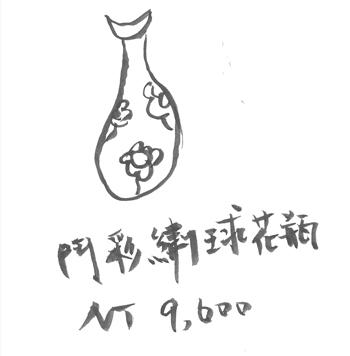 鬥彩繡球花瓶